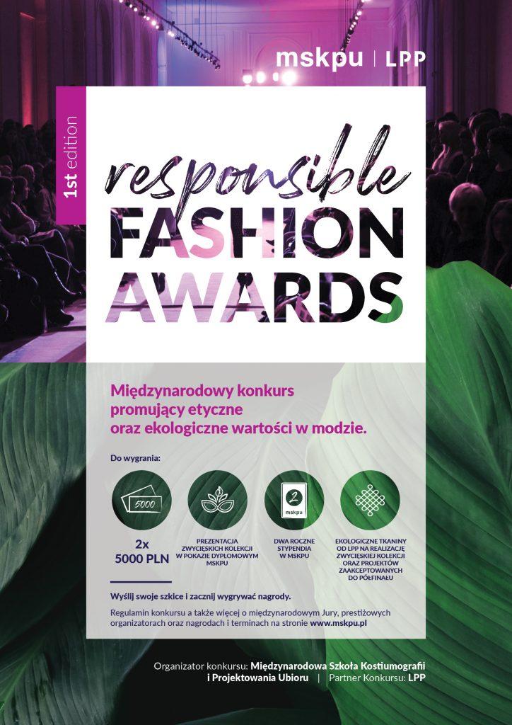 RESPONSIBLE FASHION AWARDS MSKPU LPP odpowiedzialna moda etyka w modzie csr corporate social responsibility Magdalena płonka