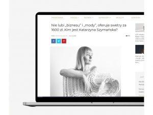 O naszej wykładowczyni Katarzynie Szymańskiej pisze Fashion Biznes