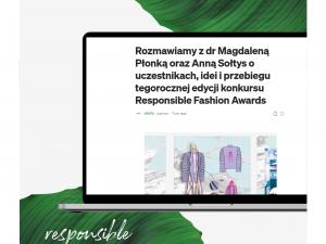 Rozmawiamy z dr Magdaleną Płonką oraz Anną Sołtys o Responsible Fashion Awards